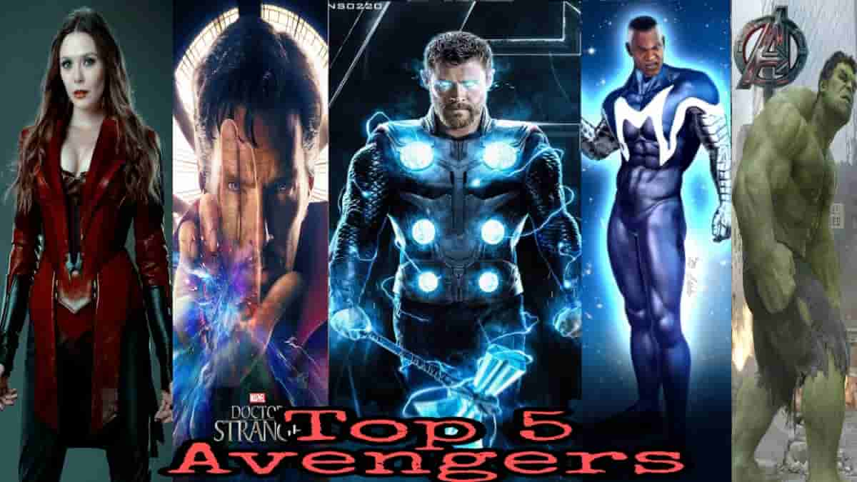 Avengers Five most powerful avengers in MCU In History,